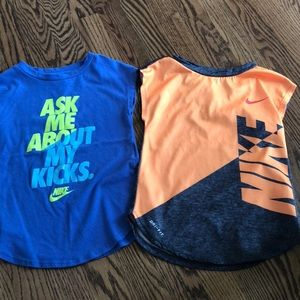2 Pack of 4T Nike Cap Sleeve Tops